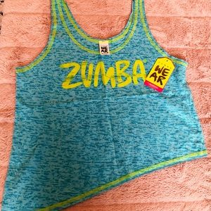Brand new Zumba top blue and yellow, size S
